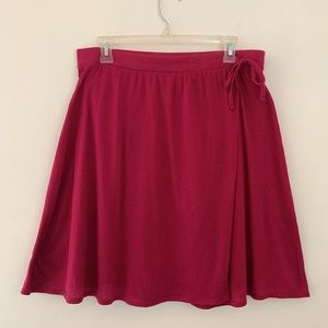 Raspberry Pink Wrap Skirt